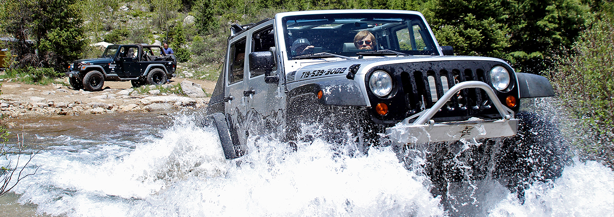 Jeep in Creek